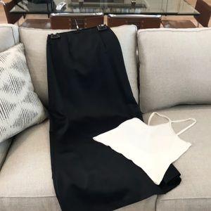 Nicole Miller satin skirt and beaded top
